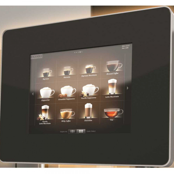 Franke A600 Commercial Bean to Cup Coffee Machine Display