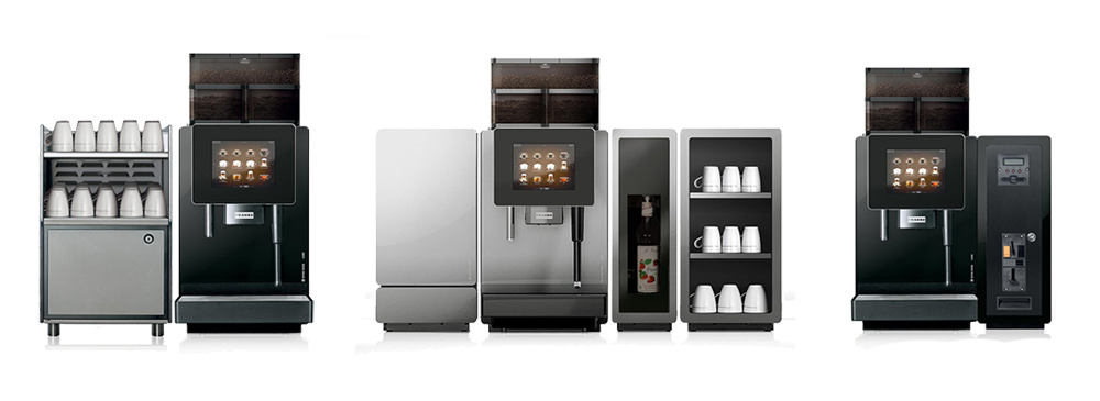 Franke A600 commercial bean to cup coffee machine variations