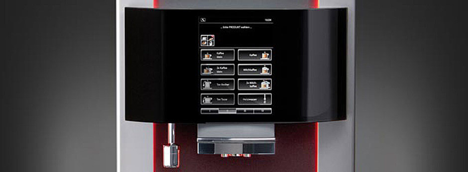 Franke Pura bean to cup coffee machine display