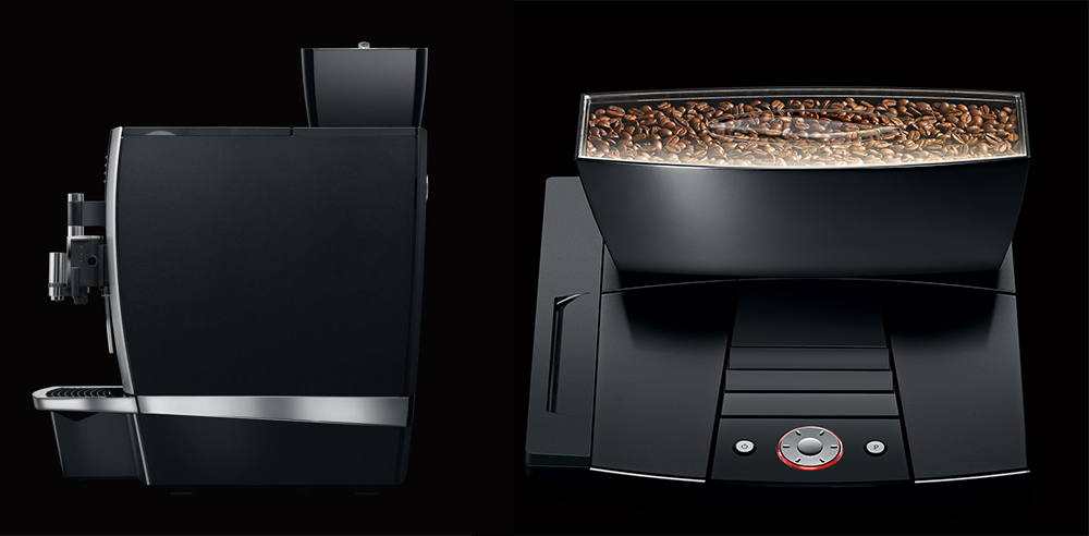 Jura Giga X3 Commercial Bean to Cup Coffee Machine Back and Front