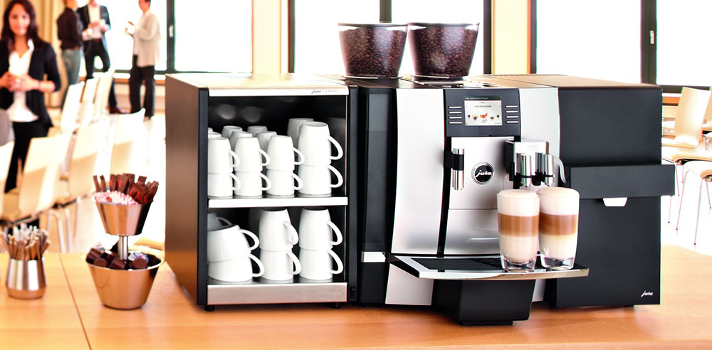 Jura Giga X9 Bean to Cup Commercial Coffee Machine in Hotel Conference Room