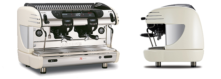 La Spaziale S40 Traditional Commercial Coffee Machine Colours Front Angled and Side