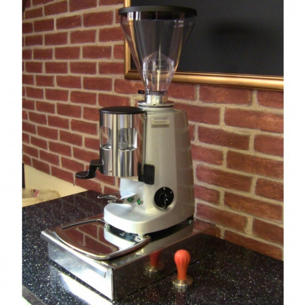 Mazzer Super Jolly Manual Coffee Grinder Angled Cafe Worktop