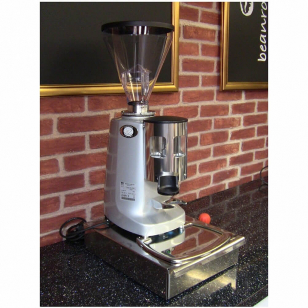 Mazzer Super Jolly Manual Coffee Grinder Angled Left Cafe Worktop