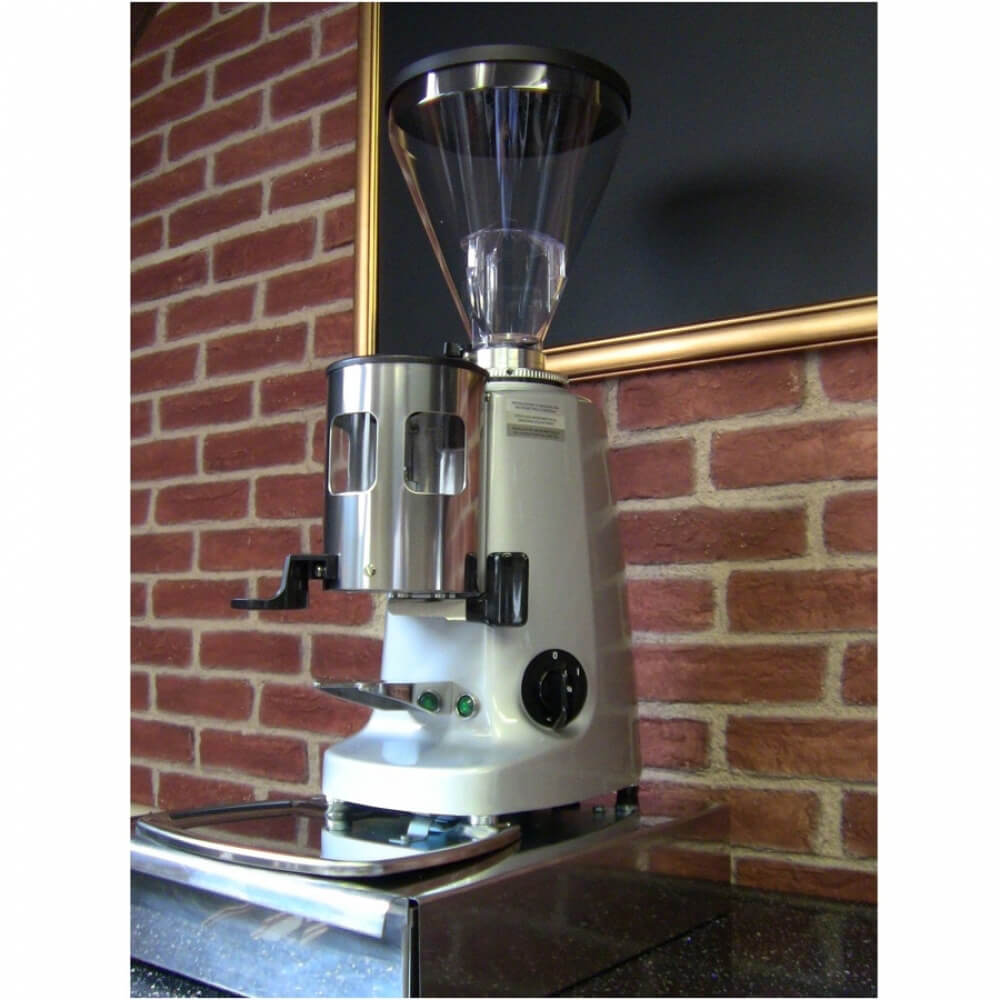 Mazzer Super Jolly Manual Coffee Grinder Eye Level Cafe Worktop