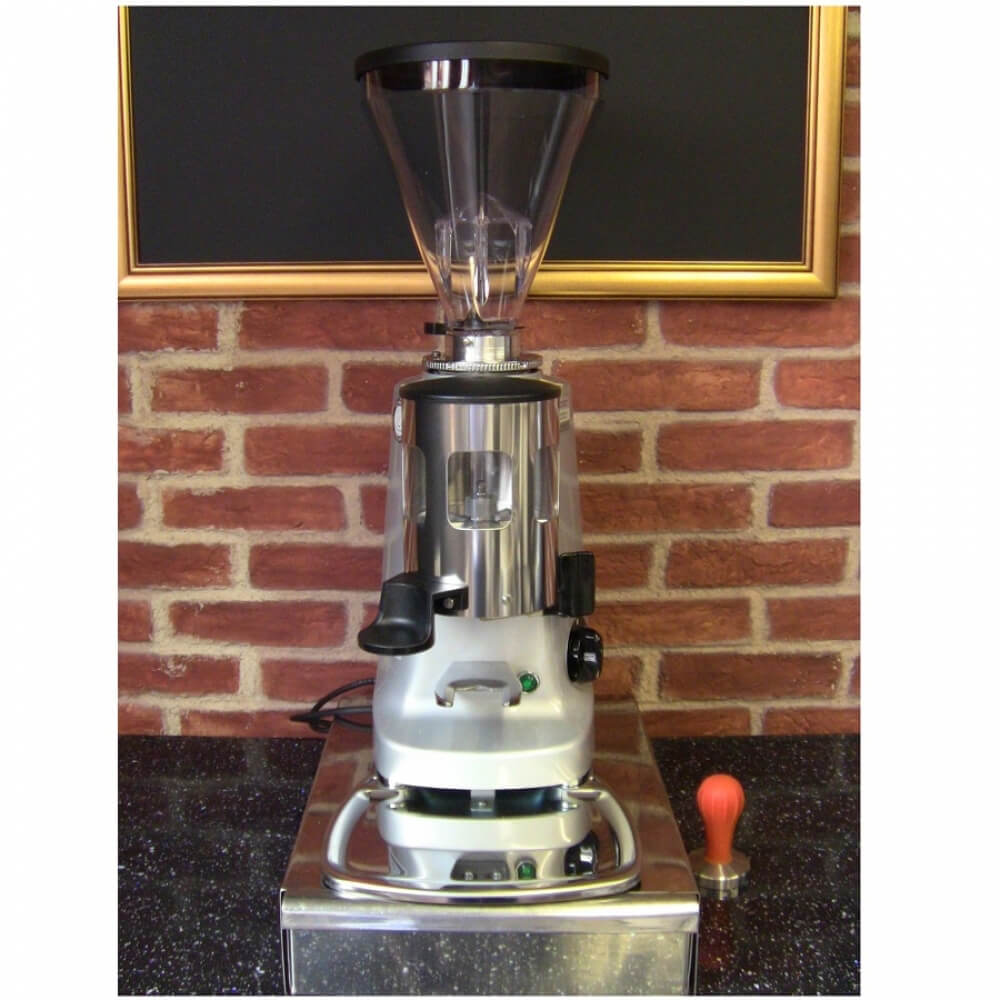 Mazzer Super Jolly Manual Coffee Grinder Front Cafe Worktop