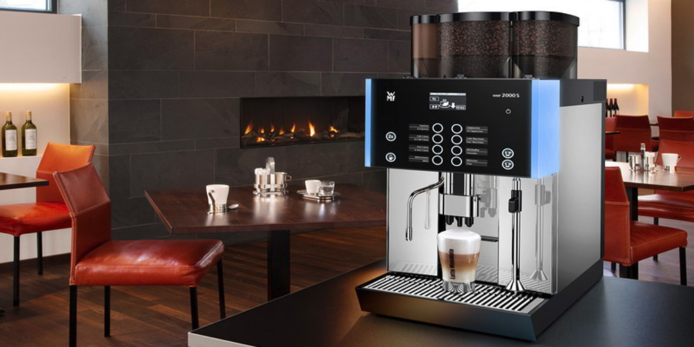 WMF 2000S Bean to Cup Commercial Coffee Machine in Restaurant