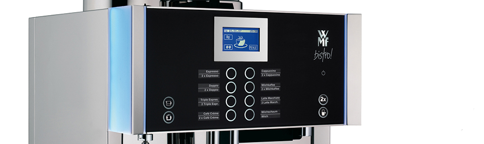 WMF Bistro Commercial Bean to Cup Coffee Machine Display