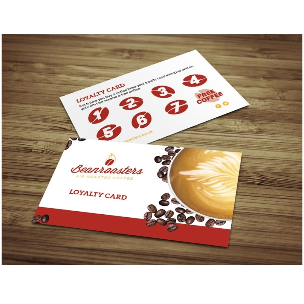Beanroasters Coffee Loyalty Card for Cafe Restaurant Hotel