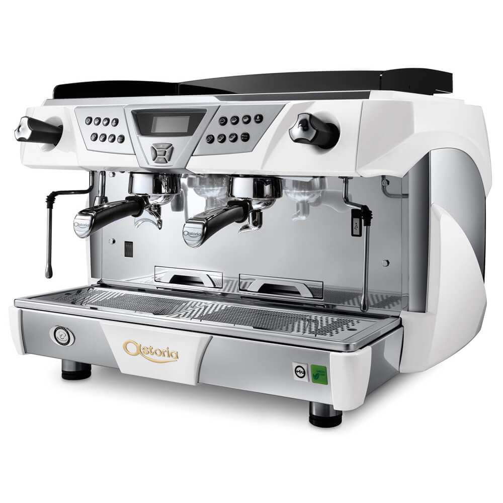 Astoria Plus 4 You Commercial Traditional Espresso Machine 2 Group White