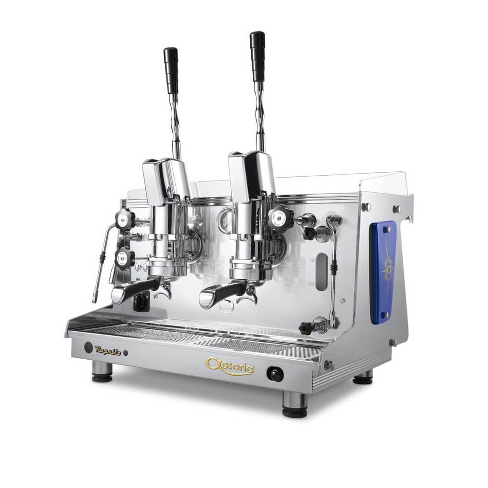 Astoria Rapallo Commercial Traditional Espresso Machine 2 Group Lever Angled