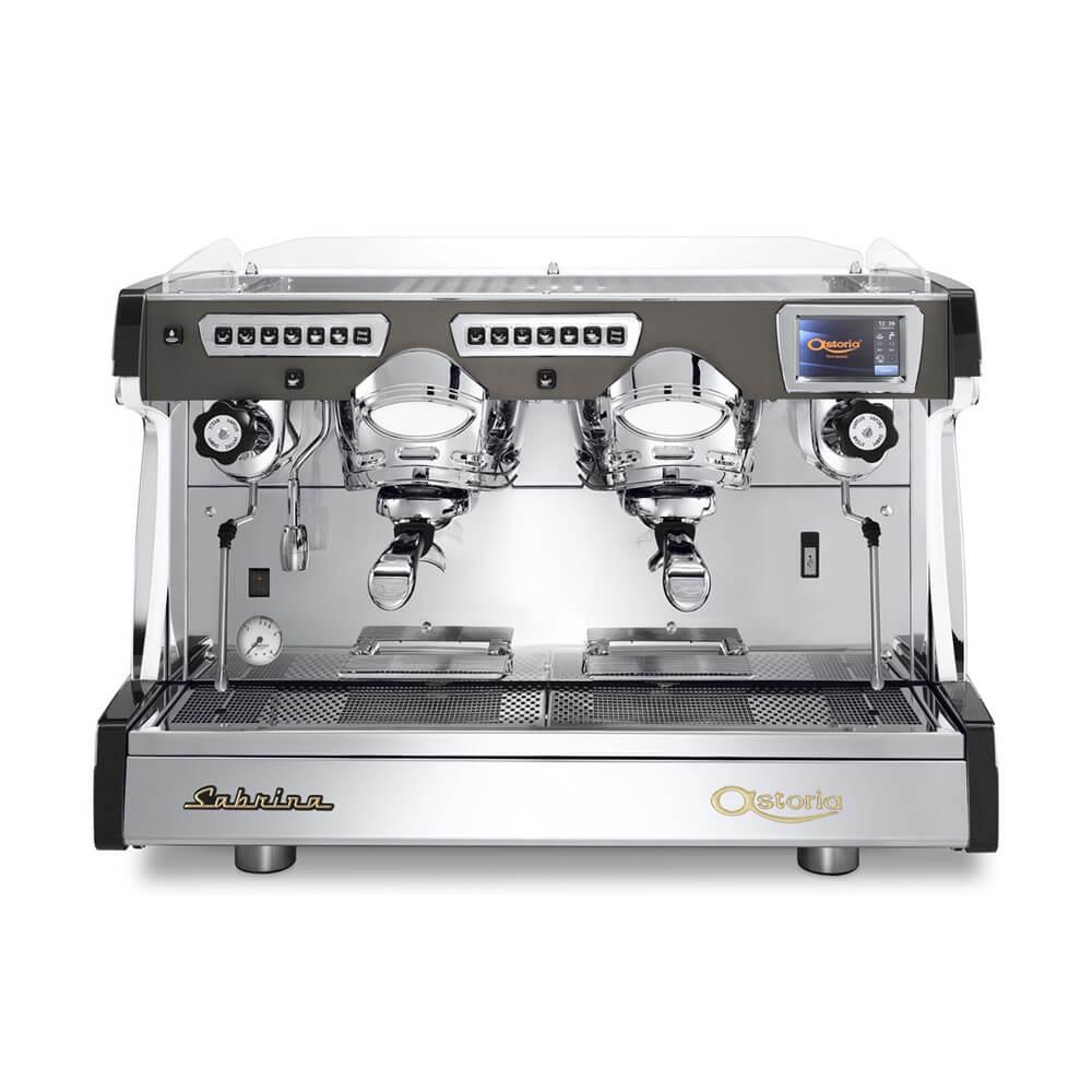 Astoria Sabrina Commercial Traditional Espresso Machine 2 Group Silver