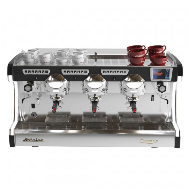 Astoria Sabrina Commercial Traditional Espresso Machine 3 Group Cup Warmer