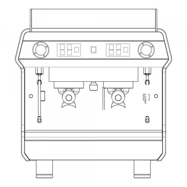 Astoria Tanya R Caps Traditional Espresso Machine Sketch