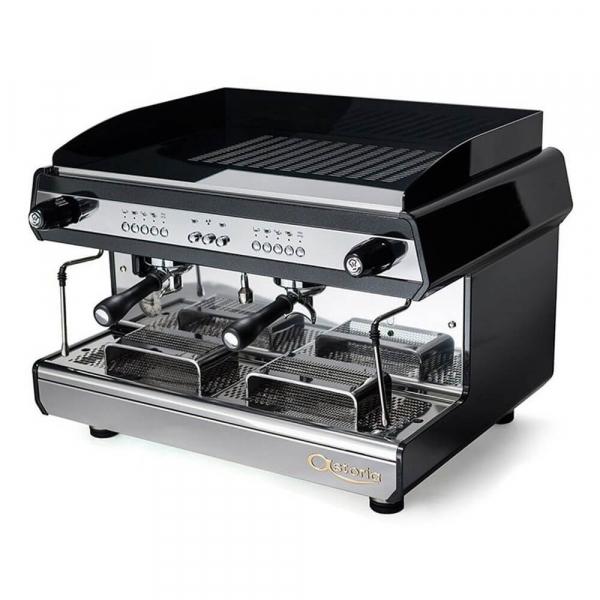 Astoria Tanya R Traditional Espresso Machine 2 Group Black Angled
