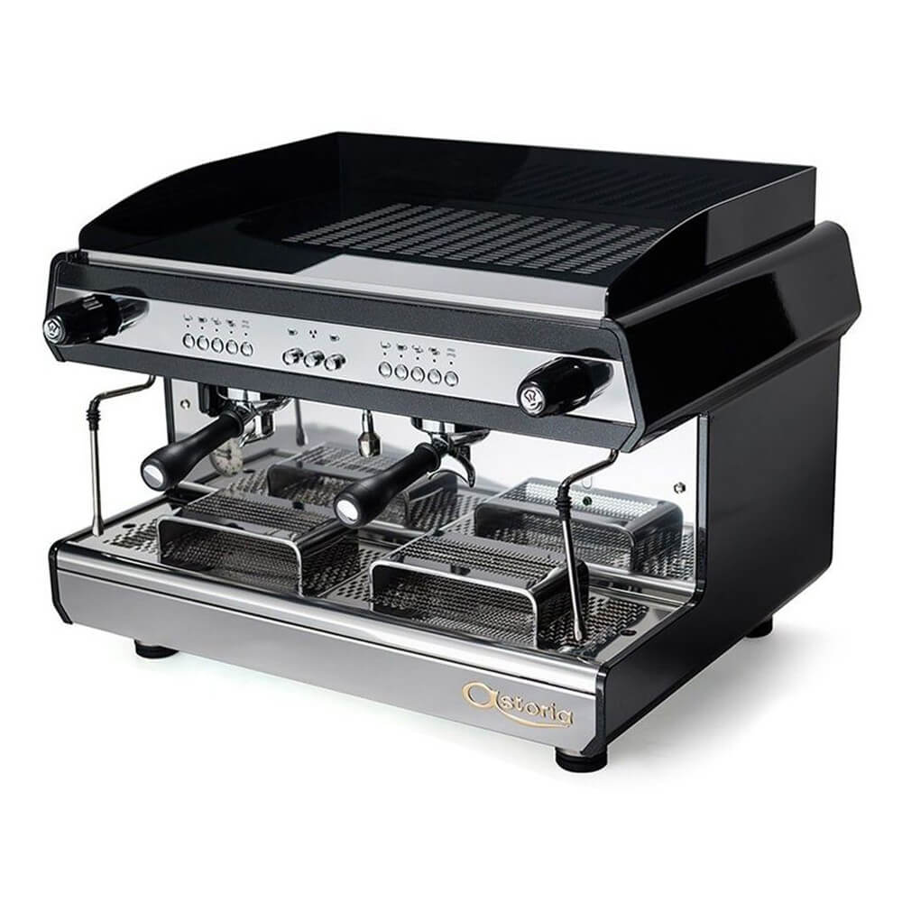Astoria Tanya R Traditional Espresso Machine 2 Group Black Angled