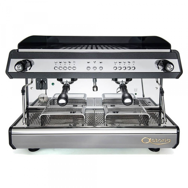 Astoria Tanya R Traditional Espresso Machine 2 Group Black Front