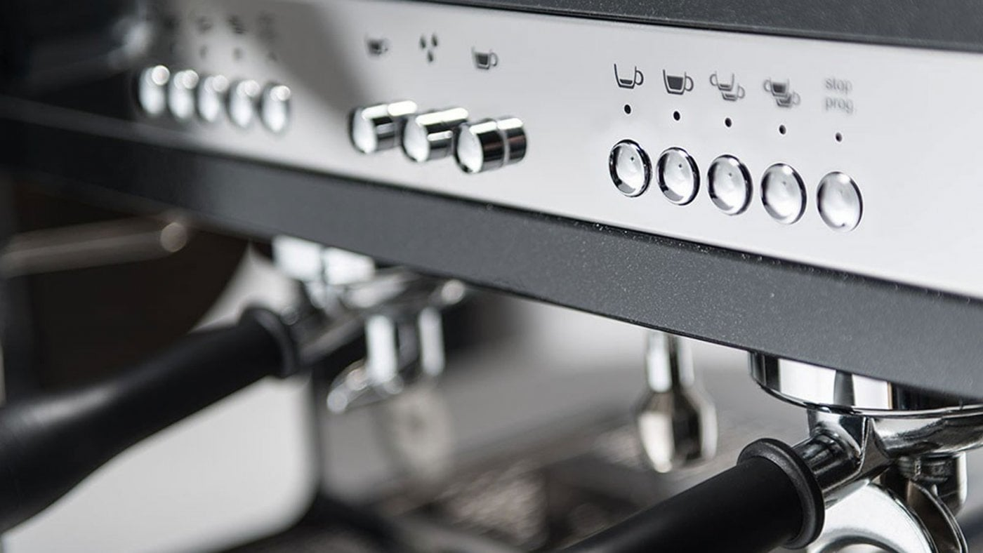 Astoria Tanya R Traditional Espresso Machine 2 Group Close Up