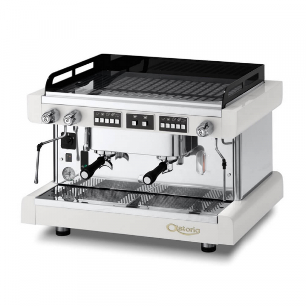 Astoria Tanya R Traditional Espresso Machine 2 Group White Angled