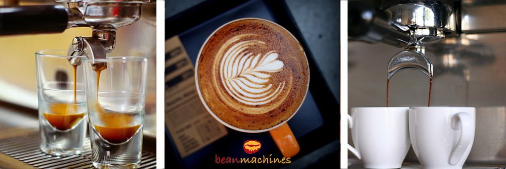 Beanmachines 1 Group Professional Espress Machine Pouring and Latte Art