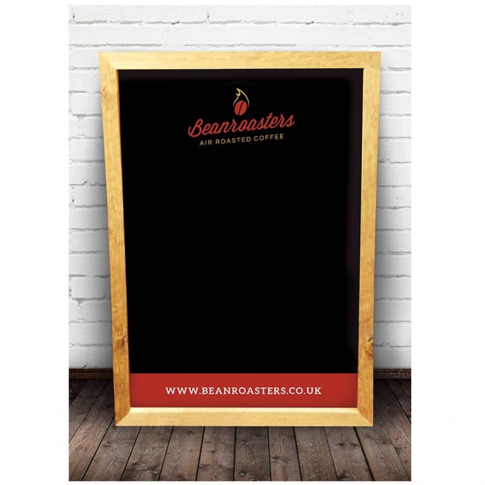 Beanroaster Coffee Blackboard Advertising Brand Building for Cafe