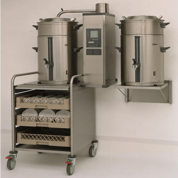 Commercial Bulk Coffee Brewer 10 Litres With Tray and Dishes