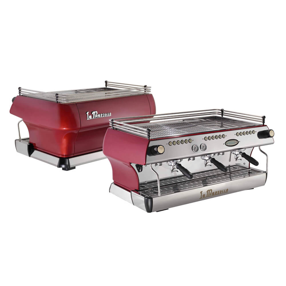 La Marzocco FB80 Traditional Commercial Coffee Machine 3 Group Back and Front