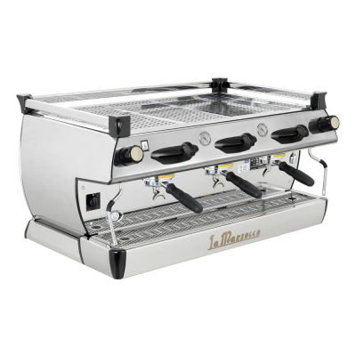 La Marzocco GB5 Professional Traditional Espresso Machine 3 Group Angled Yellow Groups
