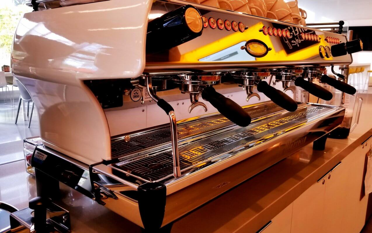La Marzocco GB5 Professional Traditional Espresso Machine 4 Group Cafe