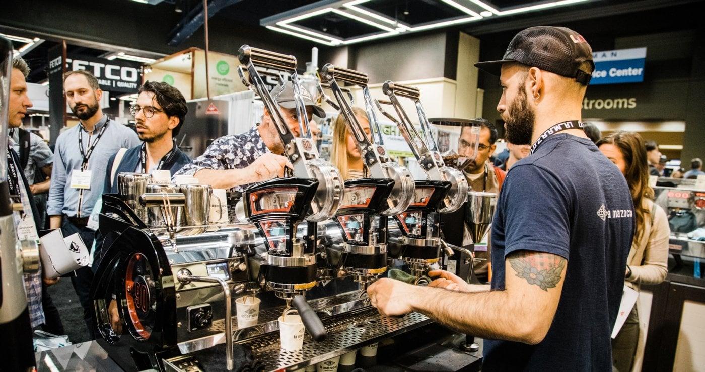 La Marzocco Leva S Analog Professional Espresso Machine 3 Group Expo Barista