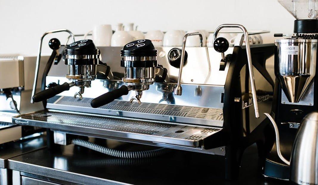 La Marzocco Strada AV Professional Traditional Espresso Machine 2 Group Angled Cafe