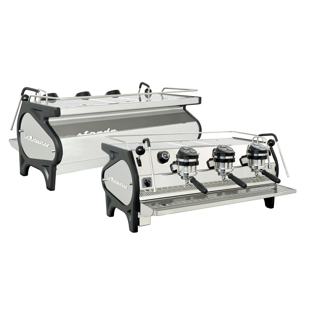 La Marzocco Strada AV Professional Traditional Espresso Machine 3 Group Back and Front