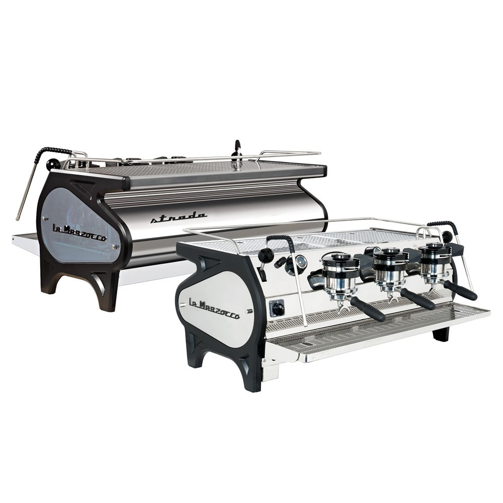 La Marzocco Strada EE Traditional Espresso Machine 3 Group Back and Front