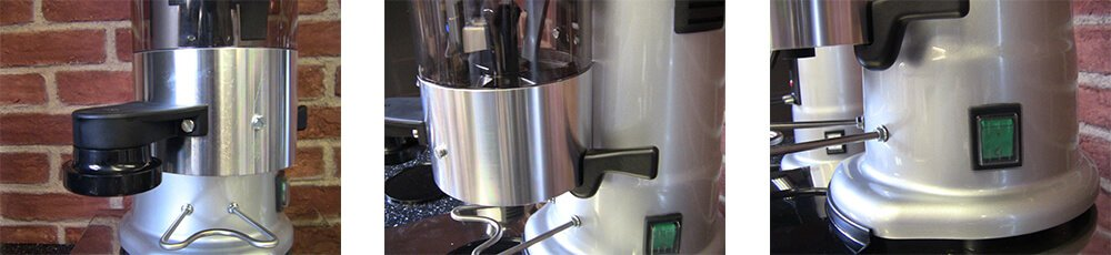 MACAP M5A Commercial Automatic Coffee Grinder Bottom