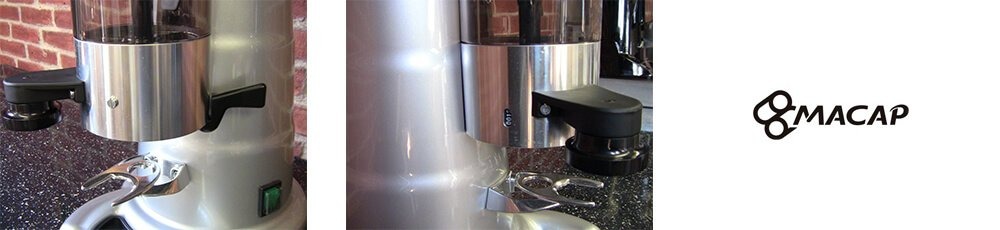 MACAP M7K Automatic Coffee Grinder Close