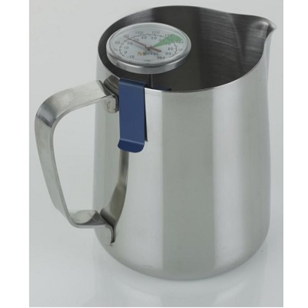 Milk Frothing Jug Professional Thermometer Clip Blue
