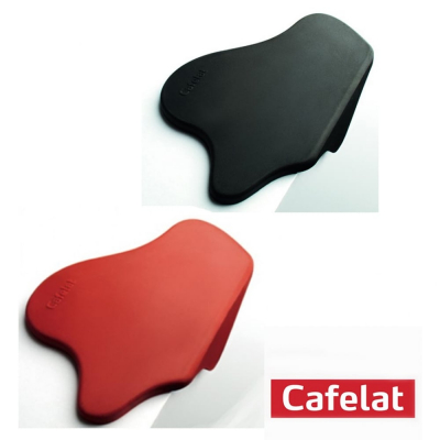 Red Black Cafelat Splat Tamping Mat