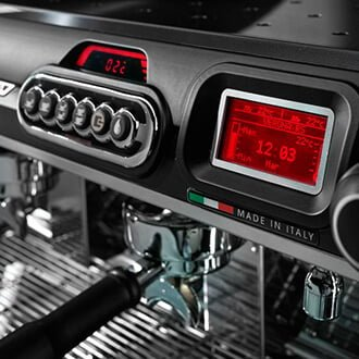 Sanremo Verona Traditional Espresso Machine Close Up Display